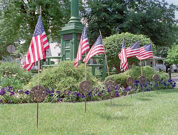 Flags in Ligonier